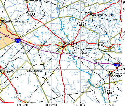 Laurens County, GA map