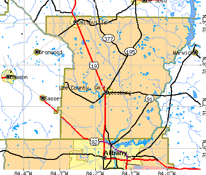 Lee County, GA map