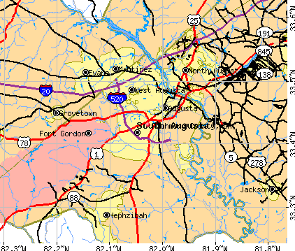 Richmond County, GA map