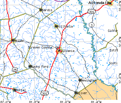 Screven County, GA map