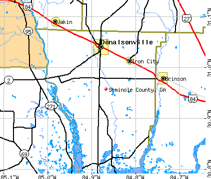 Seminole County, GA map