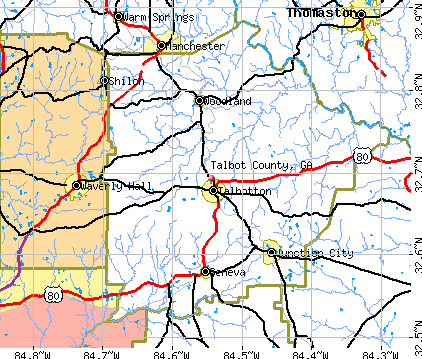 Talbot County, GA map