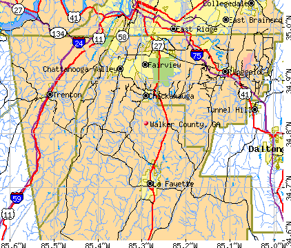 Walker County, GA map