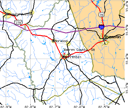 Warren County, GA map