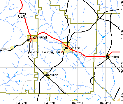 Webster County, GA map