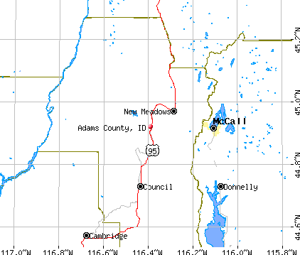 Adams County, ID map