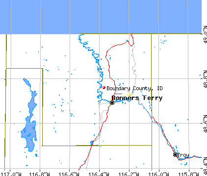 Boundary County, ID map
