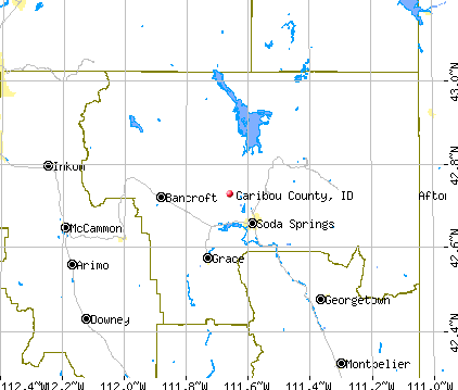 Caribou County, ID map