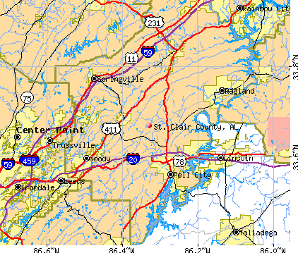 St. Clair County, AL map