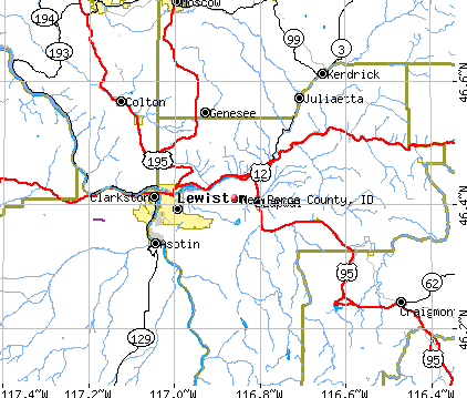 Nez Perce County, ID map
