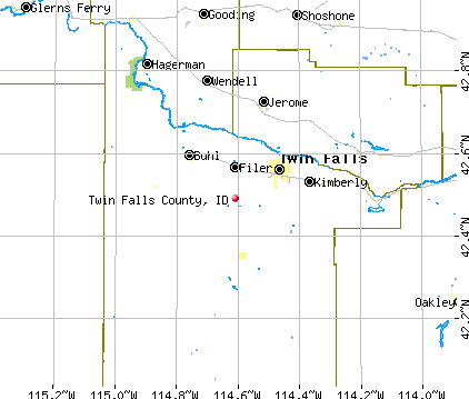 Twin Falls County, ID map