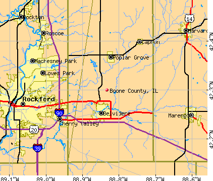 Boone County, IL map