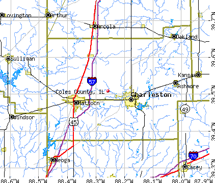 Coles County, IL map