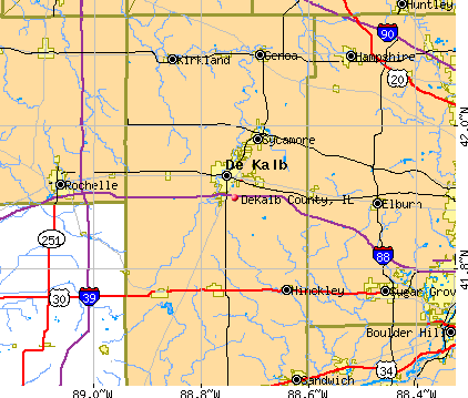 DeKalb County, IL map