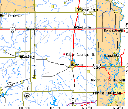 Edgar County, IL map