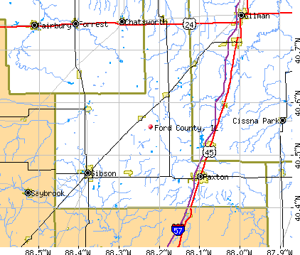 Ford County, IL map