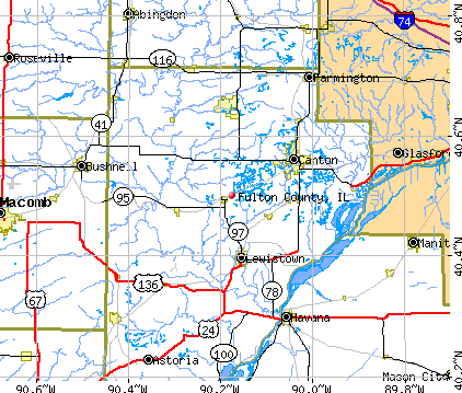 Fulton County, IL map