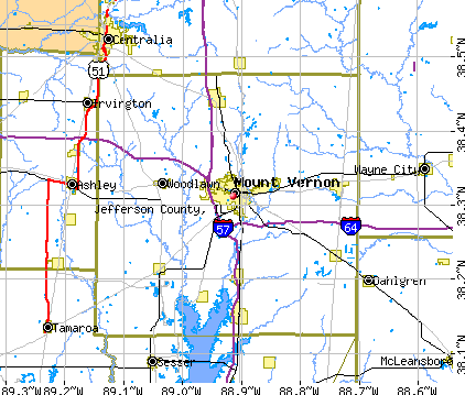 Jefferson County, IL map