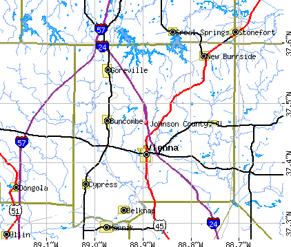 Johnson County, IL map
