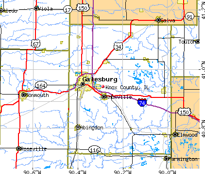 Knox County, IL map