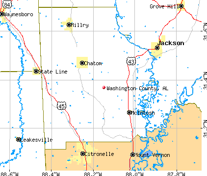 Washington County, AL map