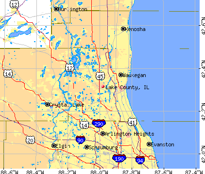 Lake County, IL map