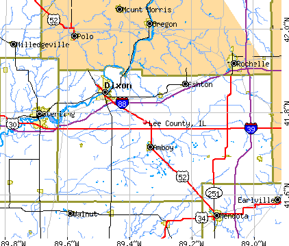 Lee County, IL map