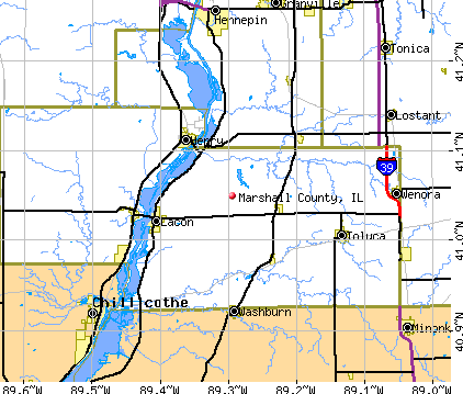 Marshall County, IL map