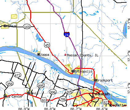 Massac County, IL map