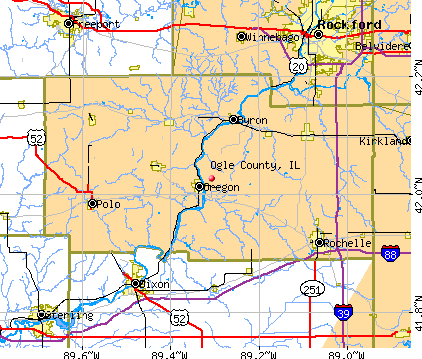 Ogle County, IL map