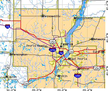 Peoria County, IL map