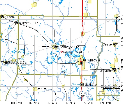 Perry County, IL map