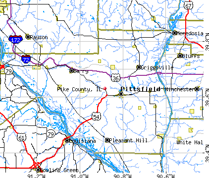 Pike County, IL map