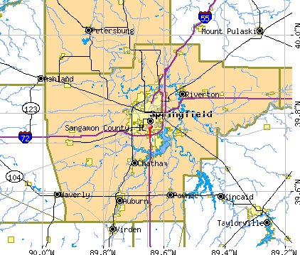 Sangamon County, IL map