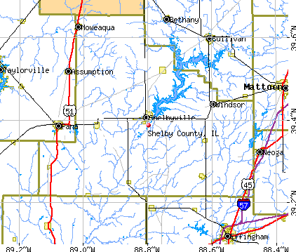 Shelby County, IL map