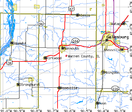 Warren County, IL map