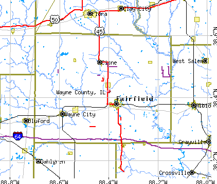 Wayne County, IL map