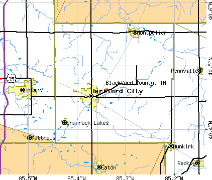 Blackford County, IN map