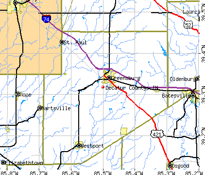 Decatur County, IN map