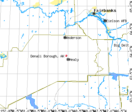 Denali Borough, AK map
