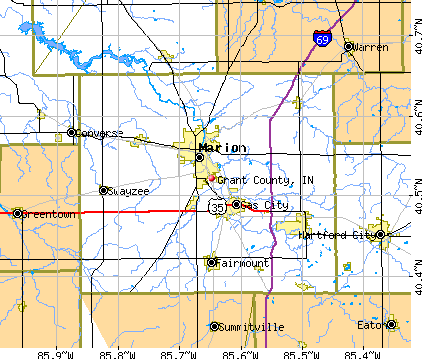Grant County, IN map