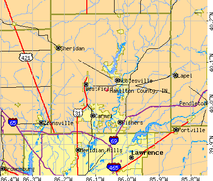 Hamilton County, IN map