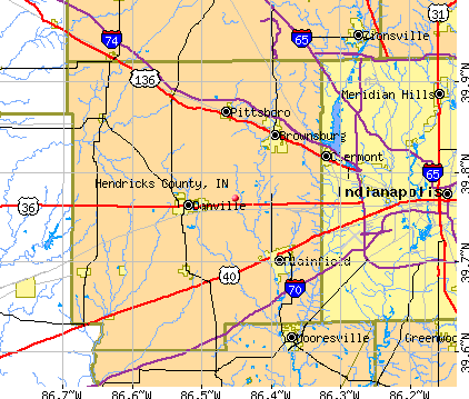 Hendricks County, IN map
