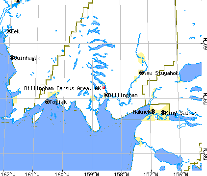 Dillingham Census Area, AK map
