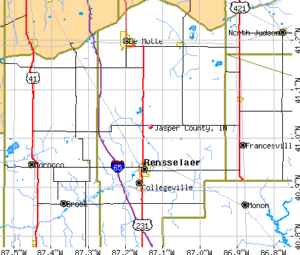 Jasper County, IN map