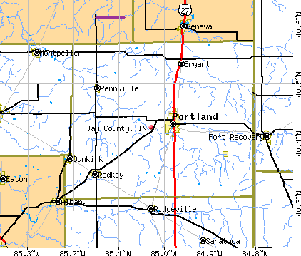 Jay County, IN map