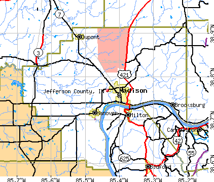 Jefferson County, IN map