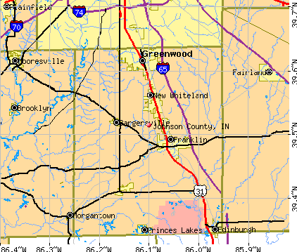 Johnson County, IN map