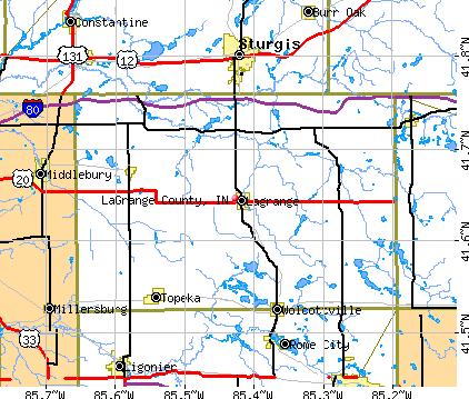 LaGrange County, IN map