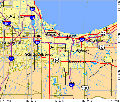Lake County, IN map